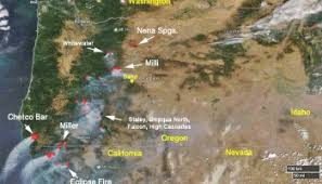 map of oregon smoke wildfires across the western us with interactive esri maps