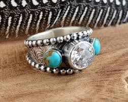 Western Wedding Rings by Handmade Gemstone Jewelry Nature Inspired By Pintody On Etsy