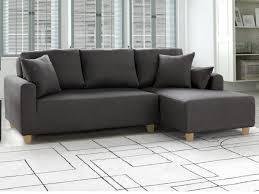 canapé d angle droit ou gauche canapé d angle convertible en tissu gris bariton