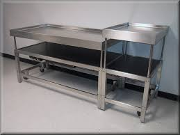 stainless steel butcher table rdm stainless steel adjustable height table model a107p ss