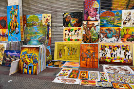 santo domingo dominican republic caribbean paint in calle el