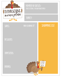 100 thanksgiving menu planner template plan your dinner