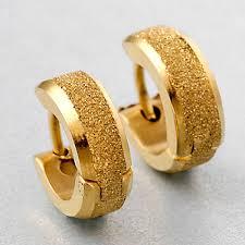 gold stud earrings for men a pair cool men dull golden ear stud earrings je for sale