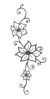 amazing black outline flowers vine tattoo stencil by j hipkins