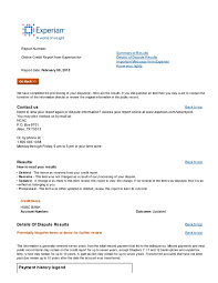 Dispute Letter For Experian hsbc charge credit repair credit infocenter forums