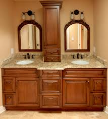 beautiful custom cherry cabinets with mirrors and exotic granite