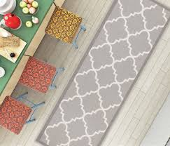 dallas moroccan trellis grey and white casual modern trellis mat