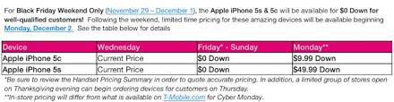 t mobile iphone 5s black friday carrier offers 5c sgs4 and note 3