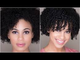 shingling haircut how to shingle natural hair for definition on 4a 3c hair youtube