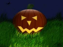 jack o lantern desktop wallpaper 1024x768 pumpkin in grass desktop pc and mac wallpaper