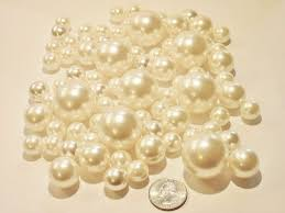 Vase With Pearls 80 Jumbo U0026 Assorted Sizes Ivory Pearls Champagne Pearls Vase