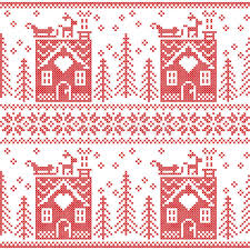 scandinavian nordic seamless pattern with gingerbread
