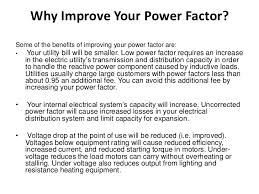 power factor for lighting load power factor correction