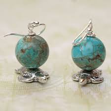 earrings world world on my shoulders turquoise and sterling earrings jellybug