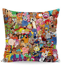 Couch Cartoon Cartoon Collage Couch Pillow