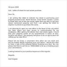 sample letter of intent commercial real estate purchase