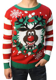 ugly christmas sweater teen boy u0027s rudolph led light up sweater