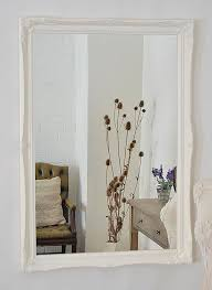 Large Shabby Chic Frame by Large White Overmantle Wall Mirror With Ornate 2 Wide Frame