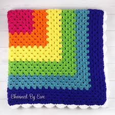 free pattern granny square afghan rainbow granny square throw charmed by ewe