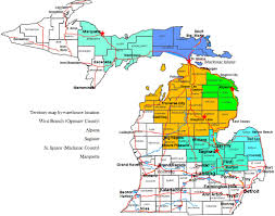 Michigan Brewery Map by Griffin Beverage Company