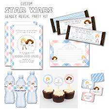star wars gender reveal custom party kit baby shower printable