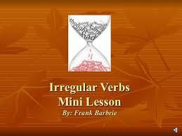 irregular verb presentation