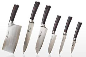 kitchen knive set zhen japanese damascus vg 10 knife set 6