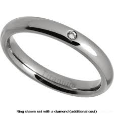 womens titanium wedding bands women s 3mm polished titanium court ring wedding ring