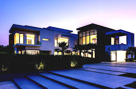 most famous modern architecture house with green landcaping small