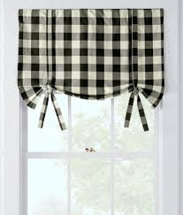 buffalo check tie up valance country curtains