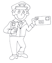 mailman hat coloring page coloring pages mailman