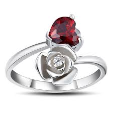 925 sterling silver v shaped heart promise ring size 5 6 7 8 9 10 heart cut garnet 925 sterling silver promise rings for