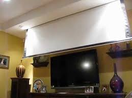 Retractable Projector Ceiling Mount by Projector Screen In Front Of Tv Youtube