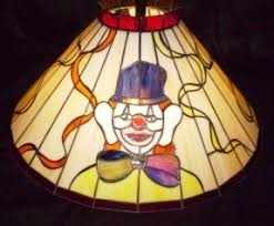 Hanging Chandelier Light Fixture Stained Glass Ceiling Fan Light Shades Open Travel