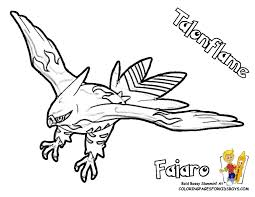 81 pokemon coloring pages talonflame lineart of fletchinder