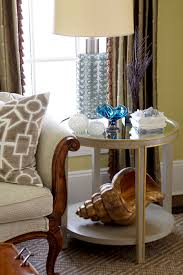 mirrored end table living room traditional with none