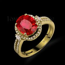 ruby rings sale images Hot oval 8x10mm 14kt yellow gold diamond ring ruby engagement ruby jpg