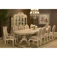 michael amini dining room michael amini lavelle blanc palatial oval dining table set for