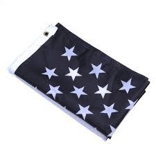 Blue White And Black Flag New Fashion Black White Blue Thin Line Star And Stripe American