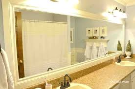 framing bathroom wall mirror large framed bathroom wall mirrors contemporary chagne within