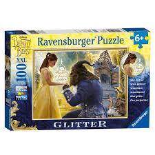 ravensburger and the beast 100 glitter jigsaw