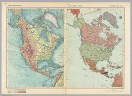 North America Political Map by North America Physical Political Pergamon World Atlas