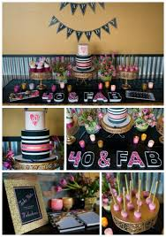 Birthday Decoration Ideas At Home For Husband Glamorous 40th Birthday Party Pretty My Party