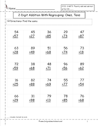 two digit addition ones and tens worksheet satta pinterest