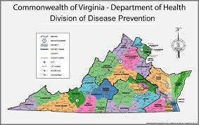 map of virginia map division of disease prevention disease prevention