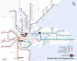 New York State Map With Cities And Towns by Map Of Nyc Commuter Rail Stations U0026 Lines