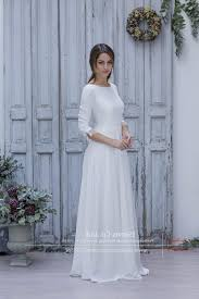 simple long white dress with sleeves naf dresses