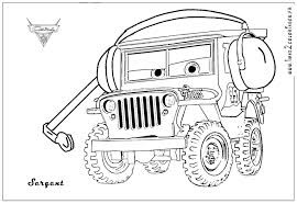 ww2 jeep side view sarge the world war ii jeep from the movie cars with his headset