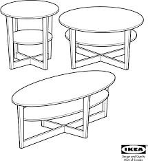 Vejmon Side Table Download Ikea Vejmon Coffee Table Round 35