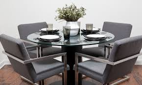 sleek glamorous dining room chairs perspective sunbrella